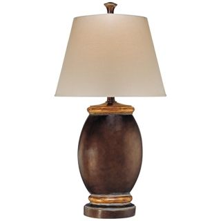 Ambience Collection Brown Oval Table Lamp   #R0351