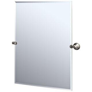Gatco Tiara Satin Nickel Finish Rectangular Tilt Wall Mirror   #P5326