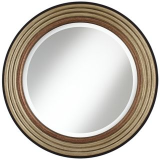 "Cercles Metallic Finish 29 1/2"" High Round Wall Mirror   #W8243"