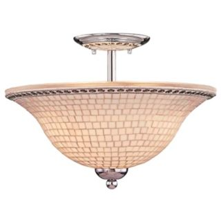 "Minka Chrome Mosaic 16"" Wide Ceiling Light Fixture   #38701"