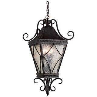 """Mavis Mottled Glass 10 1/2"""" Charcoal Outdoor Pendant Light   #W5044"""