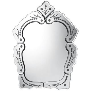 "Wilmington 20"" High Etched Wall Mirror   #X7122"