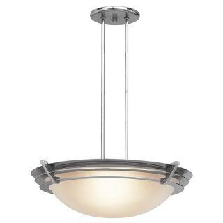 Saturn Brushed Steel Contemporary Pendant Light   #22465