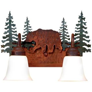 "Wasatch Collection Bear 16"" Wide Bathroom Light Fixture   #J0518"