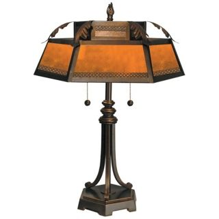 Dale Tiffany Hex Mica Table Lamp   #X2602
