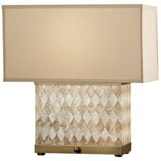 Nevena Collection Harlequin Natural Shell Table Lamp   #P4462
