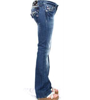 Womens Miss Me Jeans Blingy Sequin Rhinestones JP6068B Bootcut