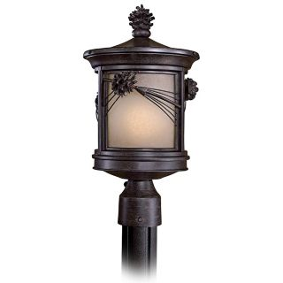 "Abbey Lane 16 1/4"" High Pine Cone Outdoor Post Light   #30194"