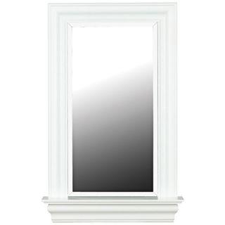 """Lucarne White Gloss 37"""" High Wall Mirror   #T5041"""