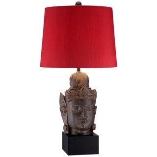 Serene Buddha Pedestal Table Lamp   #X0093