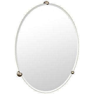 Gatco Oldenburg Satin Nickel Finish Oval Wall Mirror   #P6590