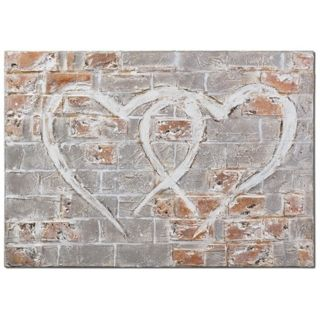 """Uttermost Hearts of the City 40"""" Wide Hand Painted Wall Art   #X1212"""