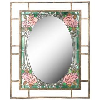 "Dale Tiffany Jules 36"" High Art Glass Wall Mirror   #X2687"