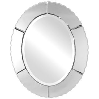 "Uttermost Evana Oval 30"" High Wall Mirror   #J6414"
