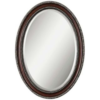 "Uttermost Montrose 35"" High Mahogony Wall Mirror   #T4893"