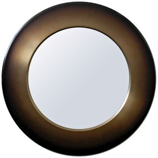 "Babette Holland Sunburst Mocha Fade 30"" Wide Wall Mirror   #M5644"