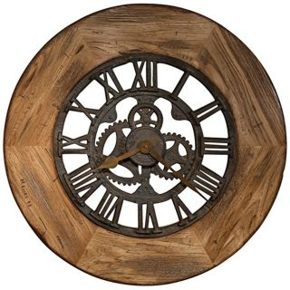 "Howard Miller Georgian 33"" Wide Wood Wall Clock   #X6087"