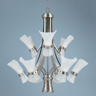 Fiji Collection Nickel 10 Light Pendant Chandelier   #K1468