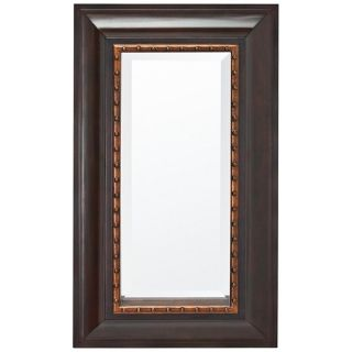 "Kichler Belvedere 34"" High Wood and Copper Wall Mirror   #X5816"