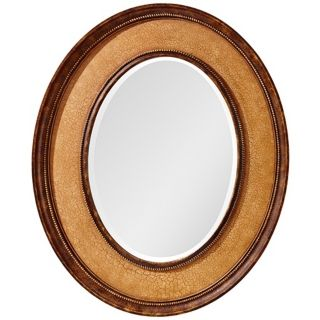 "Murray Feiss Evelyn 36"" High Oval Wall Mirror   #X2649"