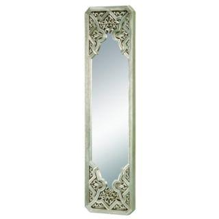 "35 1/2"" High Silver Medieval Mirror   #N7264"
