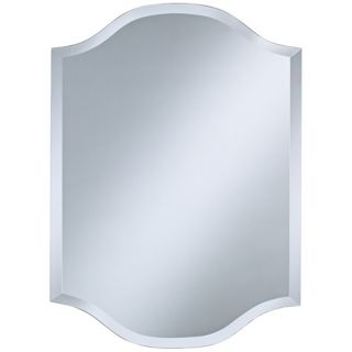 "Double Crown Frameless 30"" High Beveled Wall Mirror   #P1624"