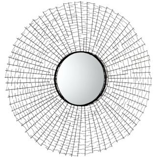 "Roxie 1 30"" Round Graphite Wall Mirror   #X7218"