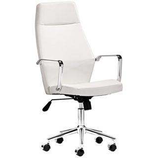 Zuo Holt Collection High Back White Office Chair   #V7436
