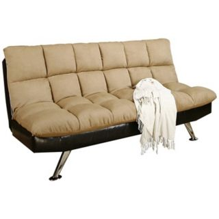 Dulce Klik Klak Tufted Leather Sofa Bed   #W1313