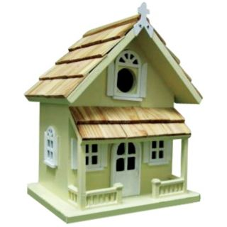 Yellow Cottage Bird House   #H9677