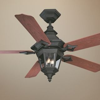 "52"" Savoy House Chatsworth Horseshoe Black Ceiling Fan   #N1990"
