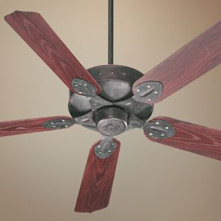 "52"" Quorum Hudson Toasted Sienna Patio Ceiling Fan   #U6066"