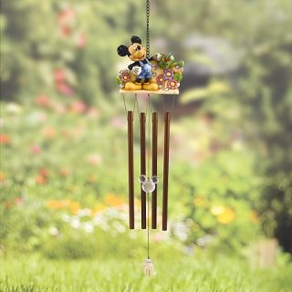 Disney Traditions Garden Mickey Mouse Wind Chime