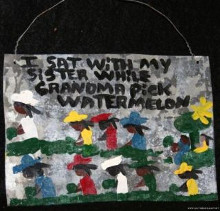 Missionary Mary Proctor Folk Art Painting Outsider