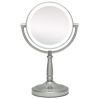"Cordless LED Lighted Pivoting 7"" Wide Vanity Mirror   #P4741"