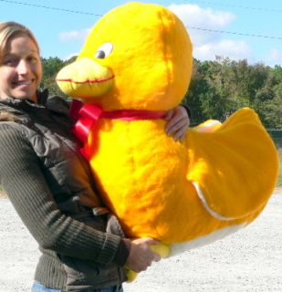 Giant 33 Bright Yellow Stuffed Duck Jumbo Huge Plush