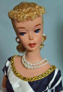 OOAK Vintage 1960 Blonde 4 Ponytail Barbie Doll by Juliaoriginals