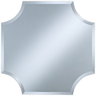 "Cut Corner Frameless 30"" High Beveled Wall Mirror   #P1632"
