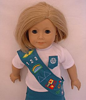 Girl Scout Junior Skirt Uniform Set Fit 18 in Doll Clothes Kanani