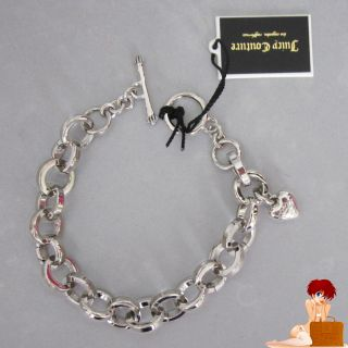 Juicy Couture Open Link DIY Bracelet for Mini Charms Silver