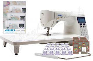 Juki HZL F600 Exceed w E Workbook 20 BOBBINS 100 Needles Show Model