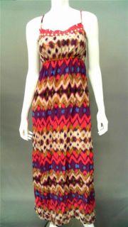 Mossimo Junior M Maxi Full Length Sundress Dress Pink Spaghetti Strap