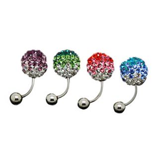 USD $ 10.79   Silver Plated Stainless Steel Rhinestones Navel/Ear