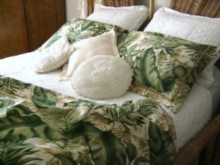 Tropical Jungle Print Full Queen Duvet Shams Set 100 Cotton