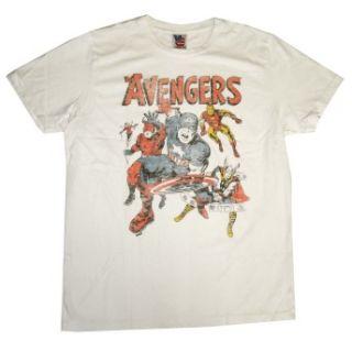 Avengers Team Marvel Comics Vintage Style Junk Food T Shirt Tee