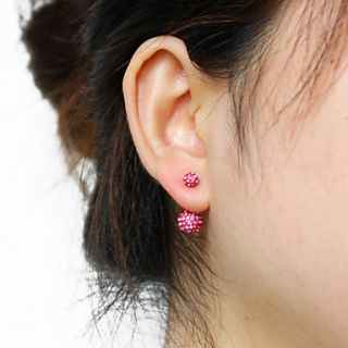 USD $ 7.99   Silver Plated Stainless Steel Rhinestones Navel/Ear