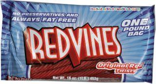 Huge Bag Red Vines Licorice Twists 1 Pound Jumbo Bag