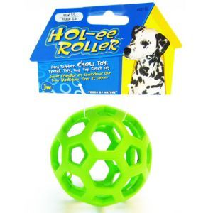 JW Pet Holee Roller Ball Jumbo Dog Chew Treat Toy 8 Inch