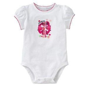 Cute Jumping Beans Baby Girl White Romper Onesie Grandmas Hug Bug 6