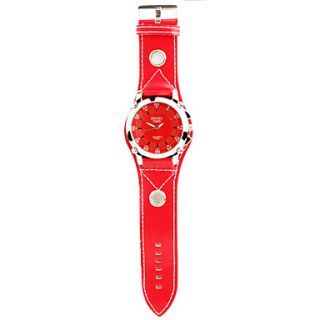 EUR € 9.19   Reloj Pulsera Quartz de Moda Con Correa PU Roja